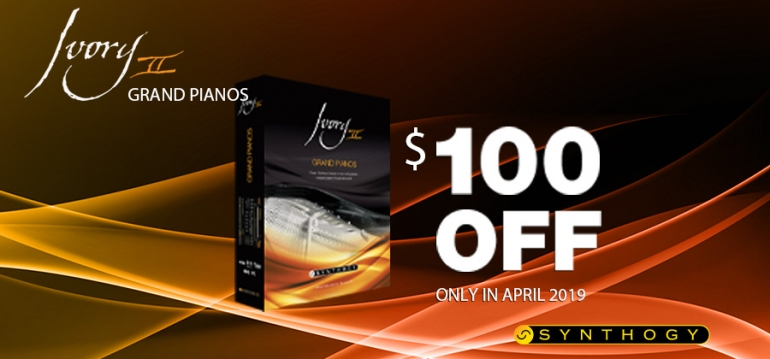 Save $100 on Ivory II-Grand Pianos in the month of April!